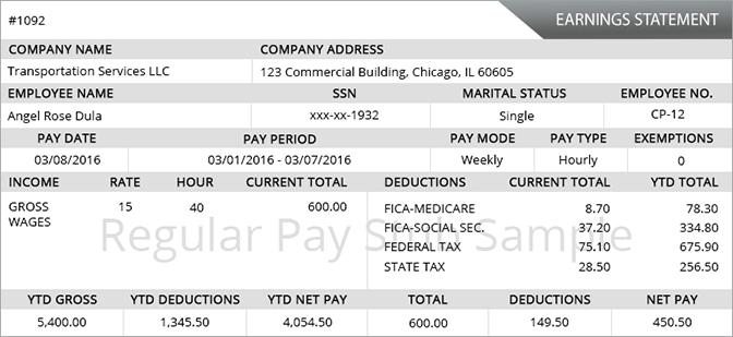 create a pay stub template